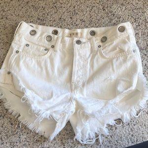 Free people denim white shorts!